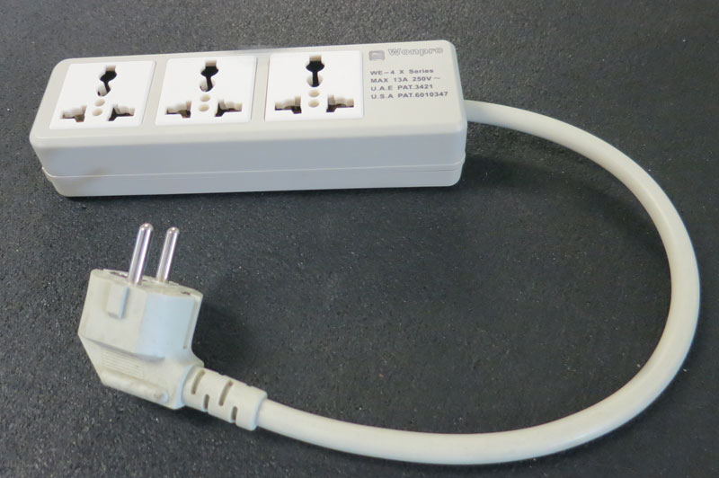 3 Outlet Power Strip Universal