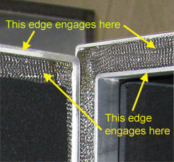 Double contact shielding gasket interface