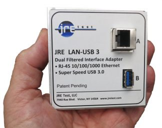 JRE Test LAN and USB 3 filtered interface