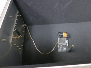 JRE Test 916 MHz device in test enclosure with antenna