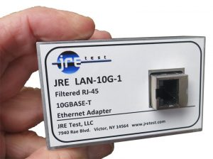 JRE LAN-10G Filtered 10GBASE-T ethernet adapter handheld view