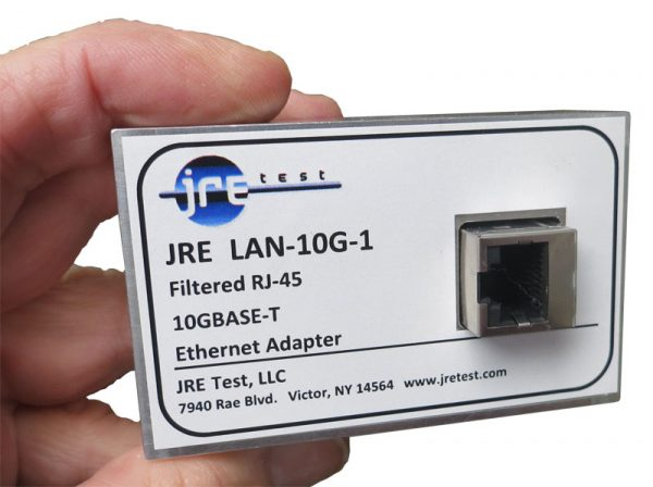 JRE LAN-10G Filtered 10GBASE-T ethernet adapter handheld view