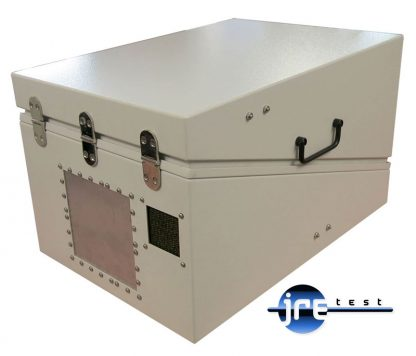 JRE1522 RF shielded test enclosure rear view