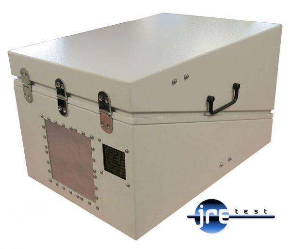 JRE1522 RF shielded test enclosure rear view