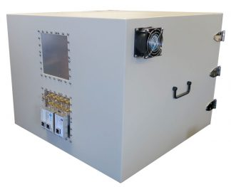 JRE2525 RF Shielded test enclosure rear view