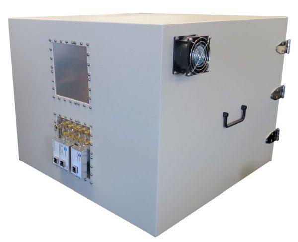 JRE2525 RF Shielded test enclosure rear view
