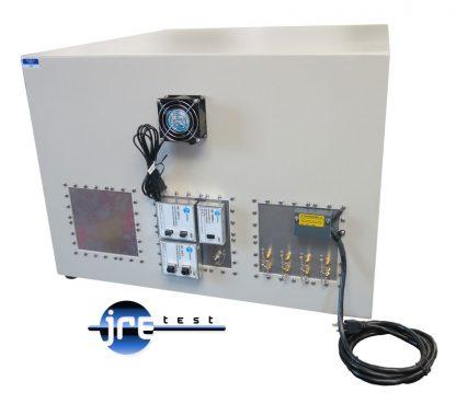 JRE2830 RF shielded test enclosure rear view