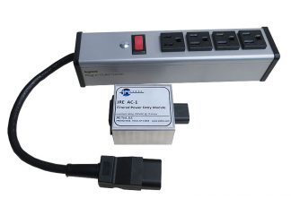 JRE Test AC-1 Filtered AC Power Entry Module with power strip