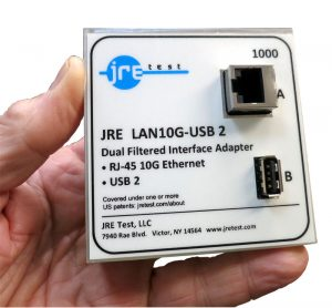 JRE Test Ethernet 10GBASE-t and USB 2 filtered interface