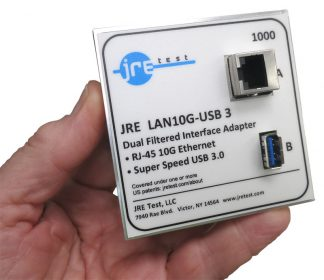 JRE Test Ethernet 10GBASE-T and USB3 filtered interface