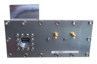 JRE Test A1-USB3-1 populated I/O plate rear view