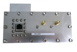 JRE Test A2-LAN1 populated I/O plate rear view