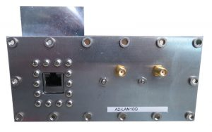 JRE Test A2-LAN10G populated I/O plate rear view