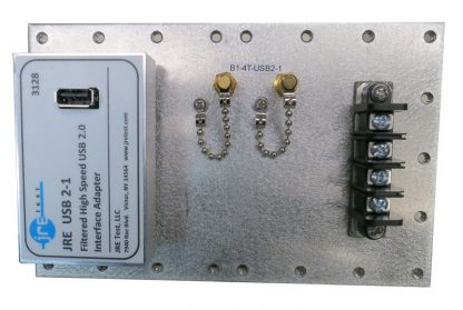 JRE Test B1-4T-USB2-1 populated I/O plate