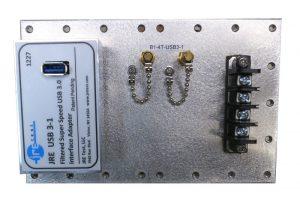 JRE Test B1-4T-USB3-1 populated I/O plate