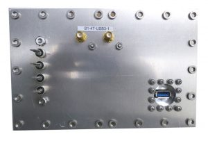 JRE Test B1-4T-USB3-1 populated I/O plate rear view