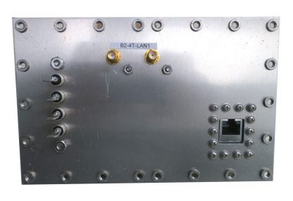 JRE Test B2-4T-LAN1 populated I/O plate rear view