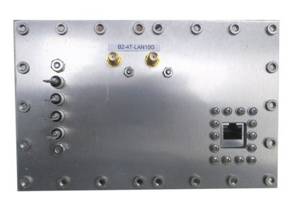 JRE Test B2-4T-LAN10G populated I/O plate rear view