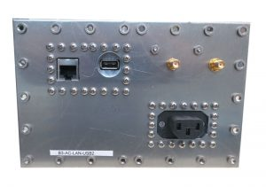 JRE Test B3-AC-LAN-USB2 populated I/O plate rear view