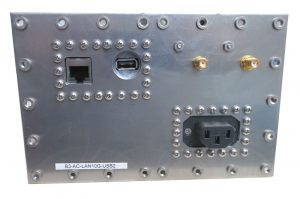 JRE Test B3-AC-LAN10G-USB2 populated I/O plate rear view
