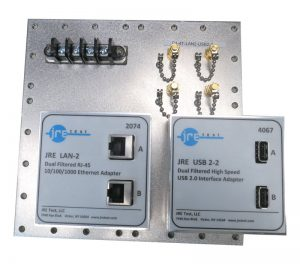 JRE Test C1-4T-LAN2-USB2-2 populated I/O plate