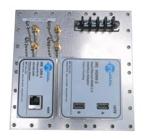 JRE Test C2-4T-LAN1-HDMI2 Populated I/O plate