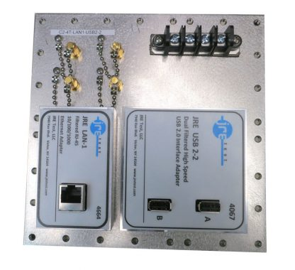 JRE Test C2-4T-LAN1-USB2-2 populated I/O plate