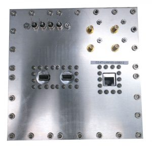 JRE Test C2-4T-LAN10G-USB2-2 Populated I/O plate rear view