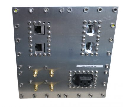 JRE Test C3-AC-LAN2-HDMI-2 Populated I/O plate rear view