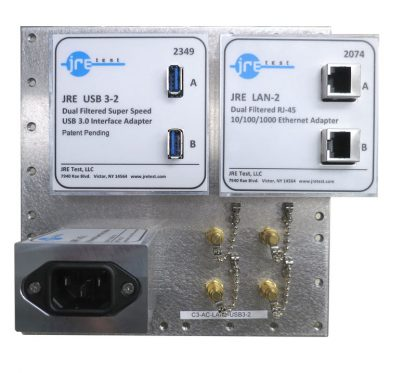 JRE Test C3-AC-LAN2-USB3-2 Populated I/O plate
