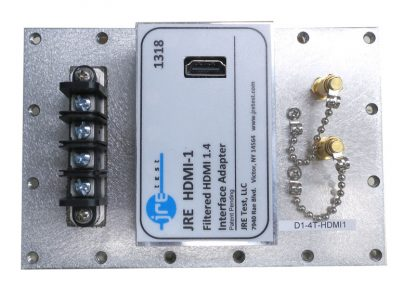 JRE Test D1-4T-HDMI1 populated I/O plate