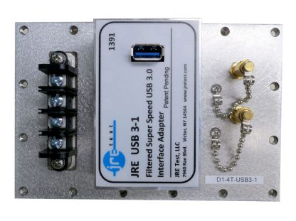 JRE Test D1-4T-USB3-1 populated I/O plate