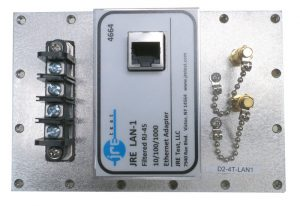 JRE Test D2-4T-LAN1 populated I/O plate