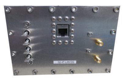 JRE Test D2-4T-LAN10G populated I/O plate rear view