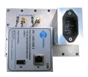 JRE Test D3-AC-LAN-USB2 populated I/O plate