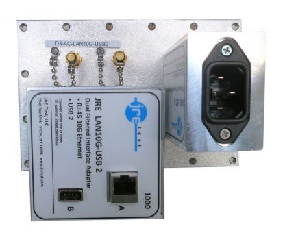 JRE Test D3-AC-LAN10G-USB2 populated I/O plate