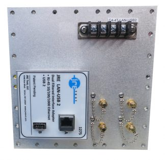 JRE Test C4-4 term-LAN-USB2-front view populated I/O plate