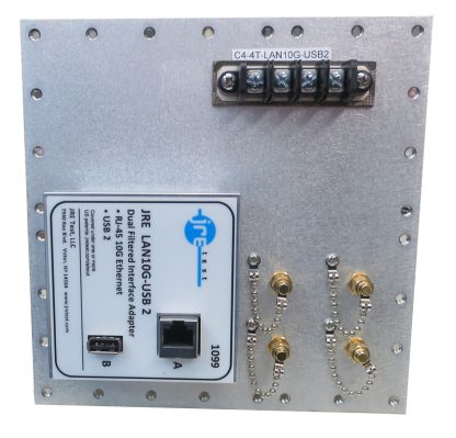 JRE Test C4-4 term-LAN10G-USB2-front view populated I/O plate