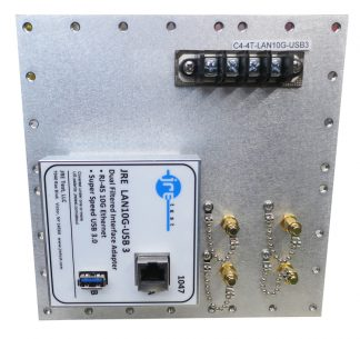 JRE Test C4-4 term-LAN10G-USB3-front view populated I/O plate