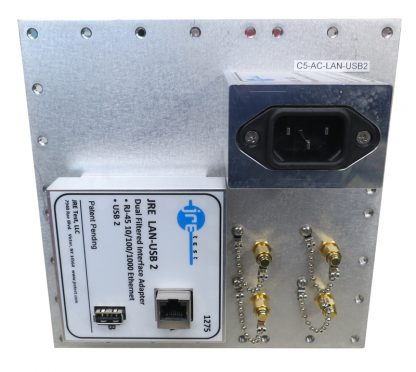 JRE Test C5-AC-LAN-USB2-front populated I/O plate