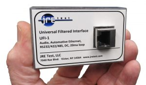 JRE Test UFI-1 universal filtered interface, for automotive ethernet, RS232/422/485