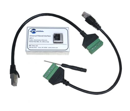 JRE Test UFI-1 universal filtered interface with cables