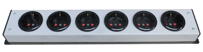 JRE Test 6outlet-European-Schuko power strip
