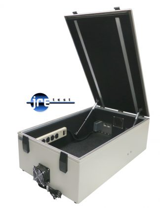 JRE Test JRE1729A RF test chamber front view open