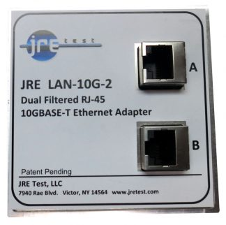 JRE Test LAN10G-2 dual filtered 10GBASE-T Ethernet interface-front-view