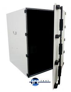 JRE3036 RF test chamber front view door open